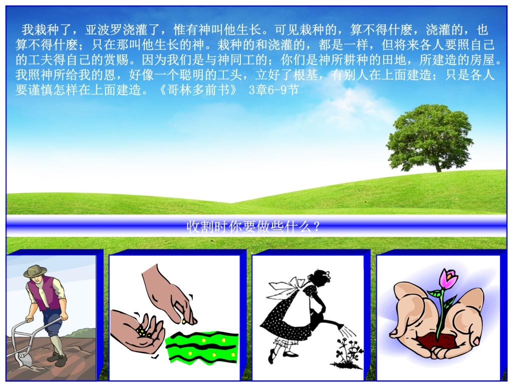 What is necessary for a harvest Chinese Language Bible Lesson Feast of Weeks