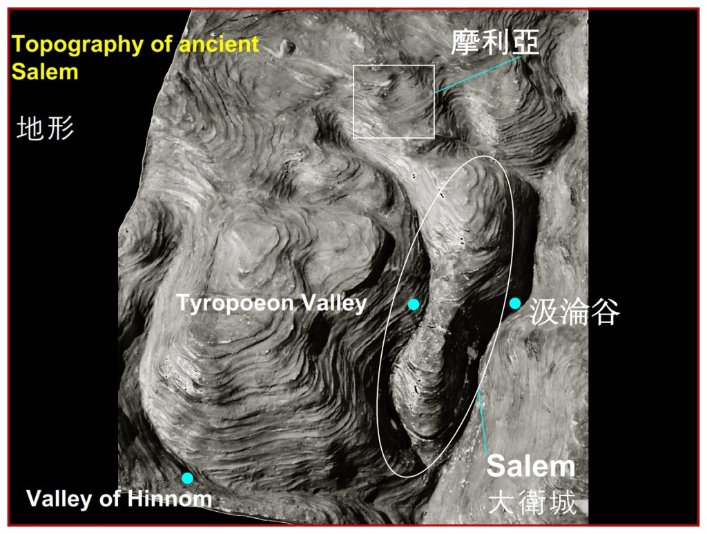 Topography of ancient Salem, Jerusalem,  Chinese Language Bible Lesson Day of Atonement