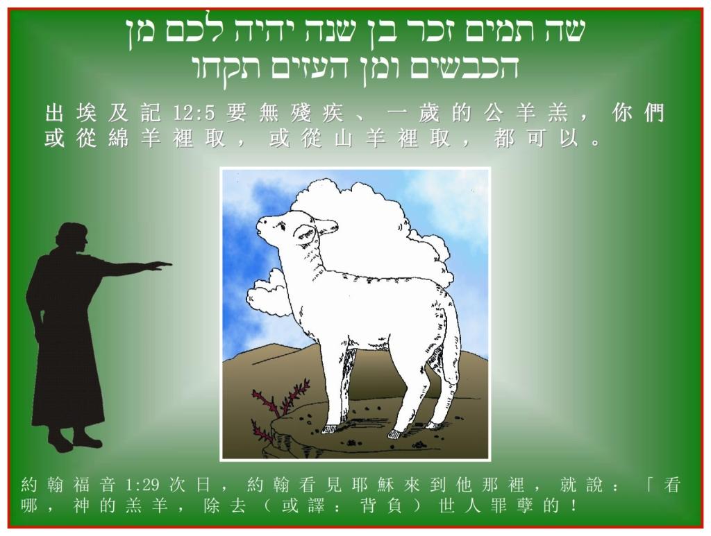 Chinese Language Bible Lesson John said  Jesus is the Passover Lamb