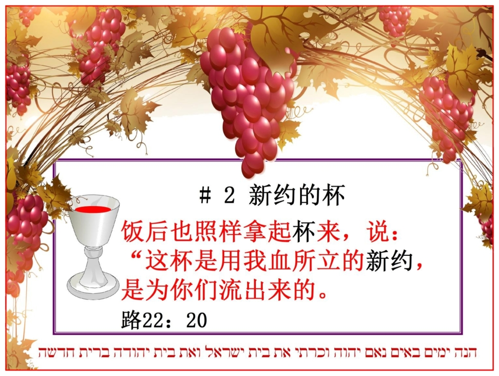 Chinese Language Bible Study four cups The second the blood of The Messiah