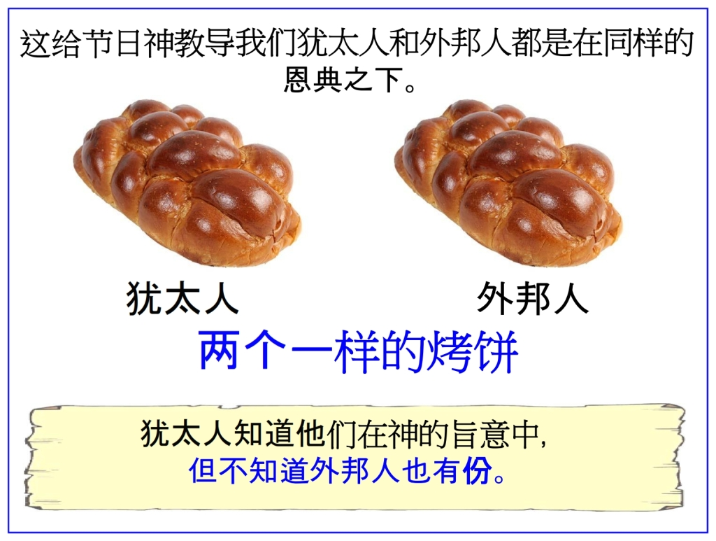 Chinese Language Bible Lesson Feast of Weeks Loaves represent Jews and Gentiles