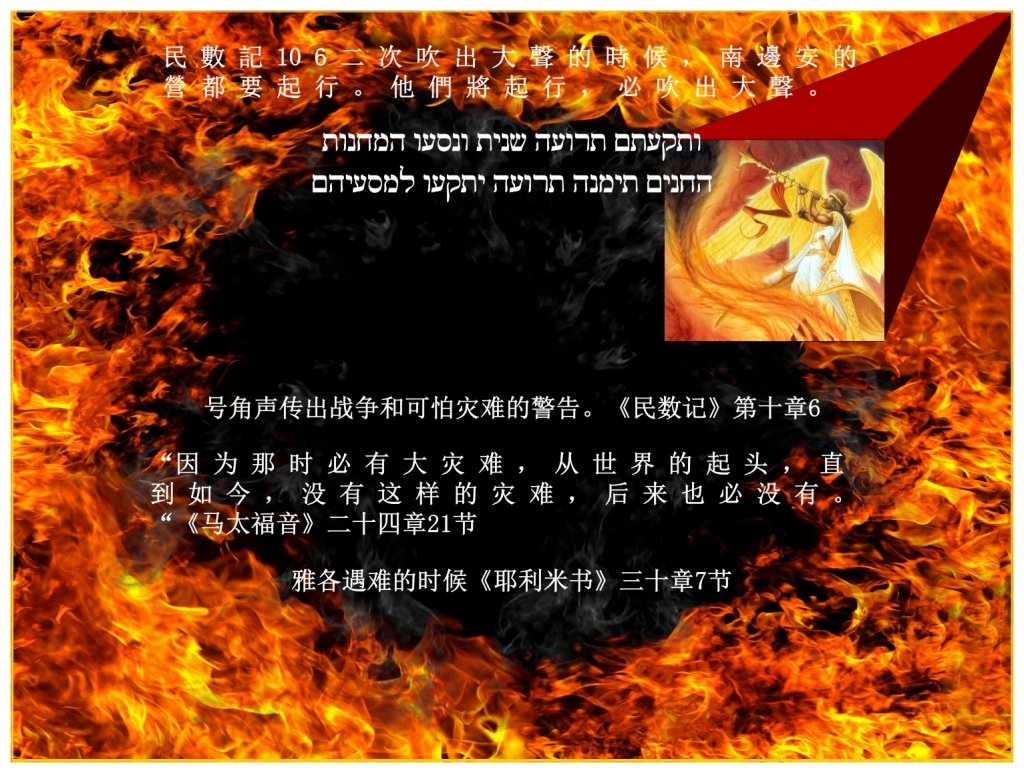Chinese Language Bible Lesson Feast of Trumpets great danger on Earth when Christians are all removed
