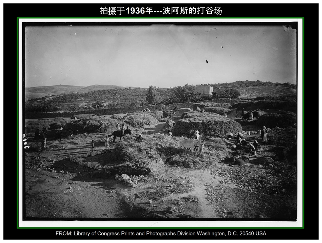 Chinese Language Bible Lesson First Fruits Boaz Threshing Floor used in 1936