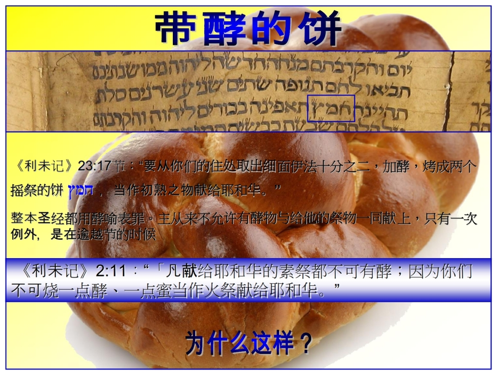 Chinese Language Bible Lesson Feast of Weeks Bread baked with leaven