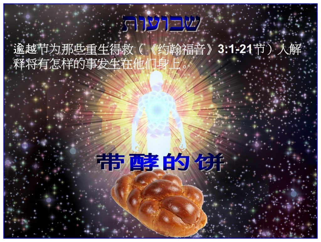 Born Again, yet the loaf of bread has leaven, you still sin Feast of Weeks Chinese