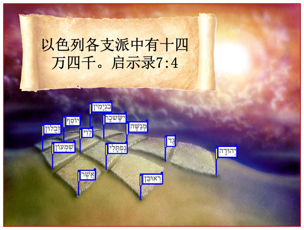 12,000 Jewish men from each tribe Chinese Language Bible Lesson Day of Atonement