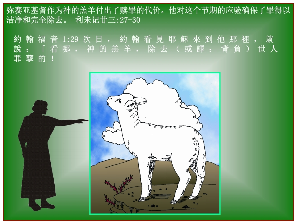 The sacrifice for your sin is either you or The Lamb of God, Jesus Chinese Language Bible Lesson Day of Atonement