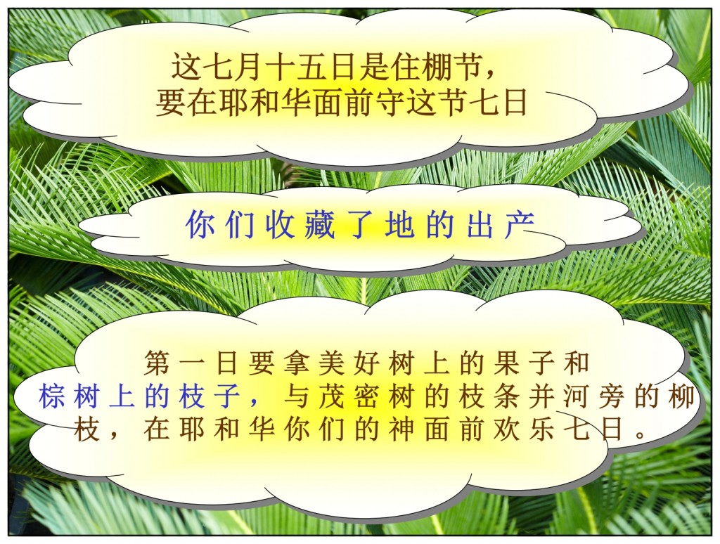 The world will finally be a peace at Sukkot Chinese language Bible study