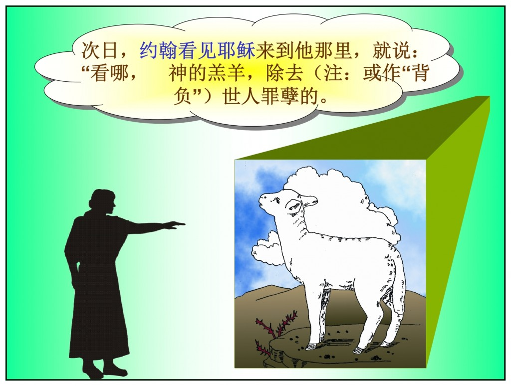 John said Jesus was the Lamb of God Chinese language Bible study