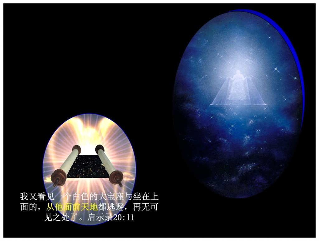 God rolls up the Heavens like a Scroll. Chinese Language Bible study