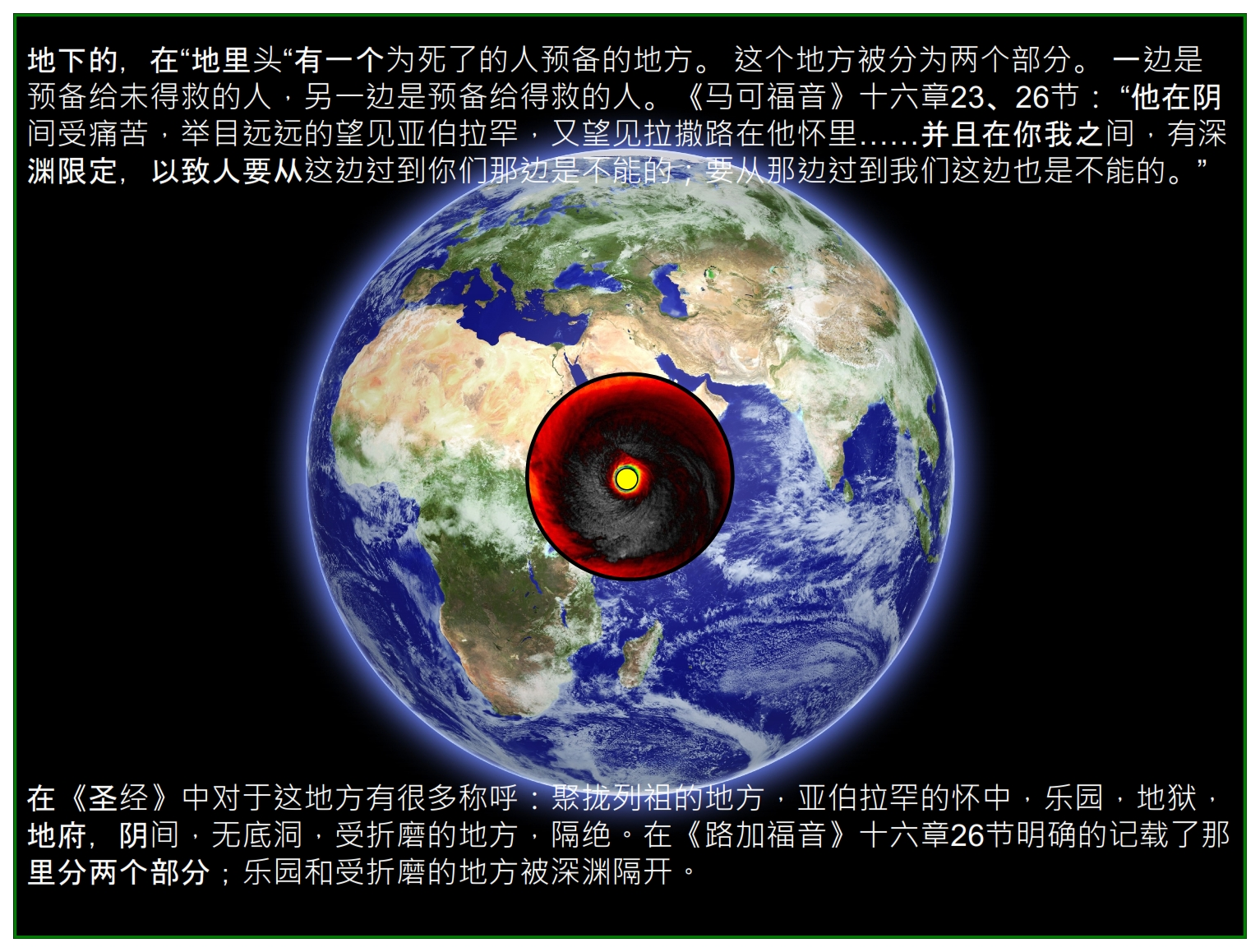 Chinese Language Bible Lesson First Fruits Jesus descended to the heart of the Earth