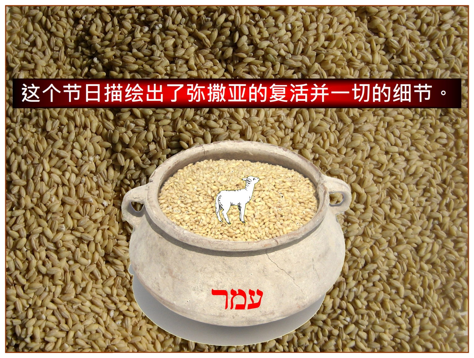 Chinese Language Bible Lesson First Fruits the small omer represented the entire harvest