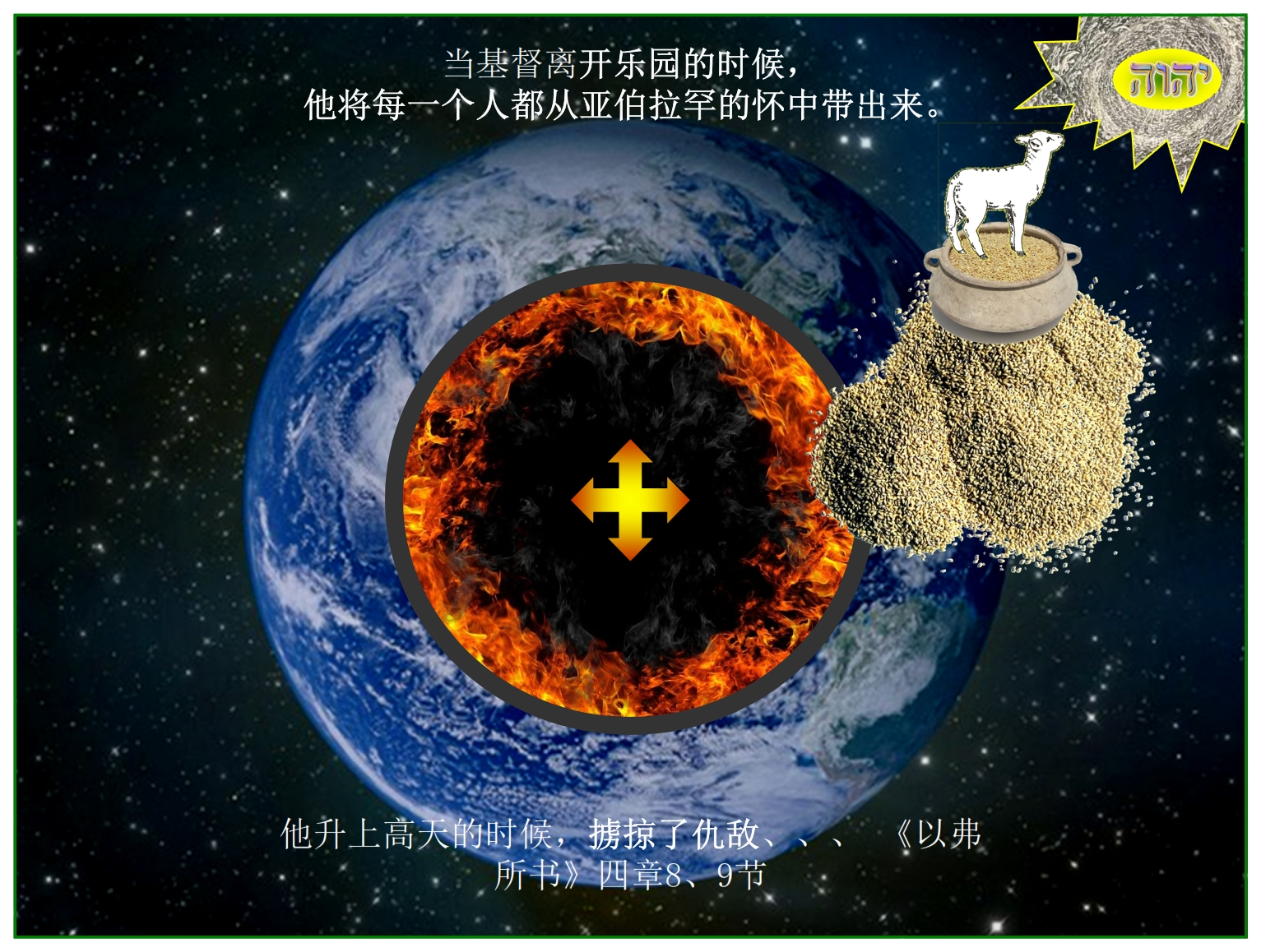 Chinese Language Bible Lesson First Fruits Christ lead captivity captive and arose on high