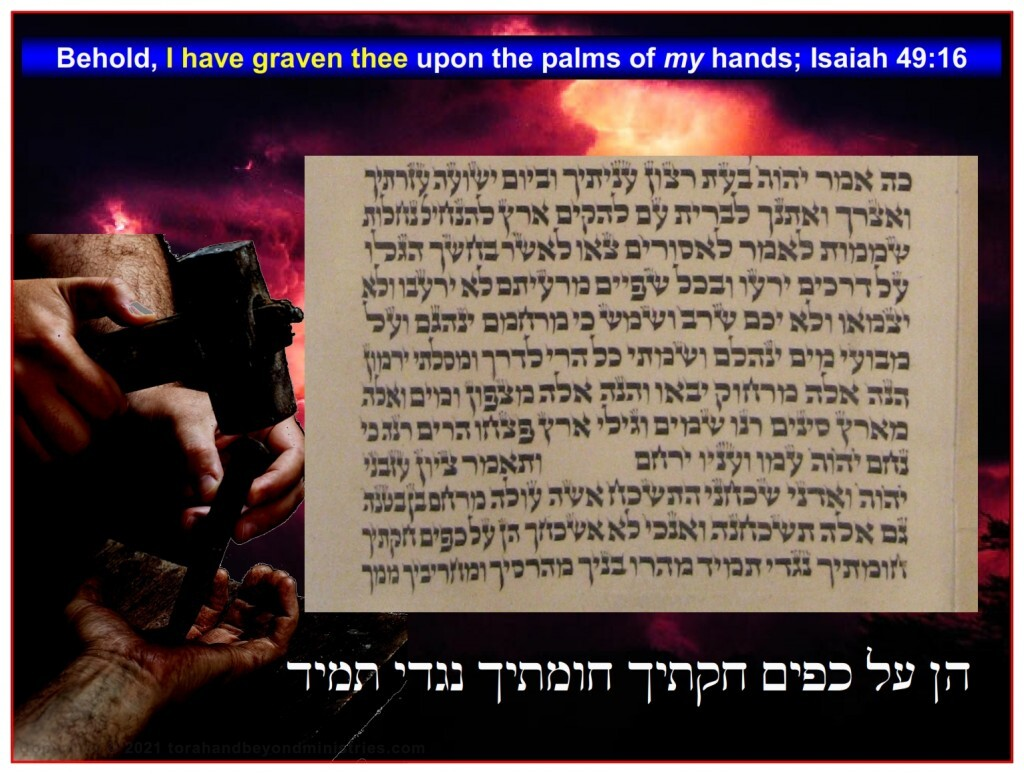 Russian Scroll of Isaiah - Isaiah 49:16 Graven on Palms of hands