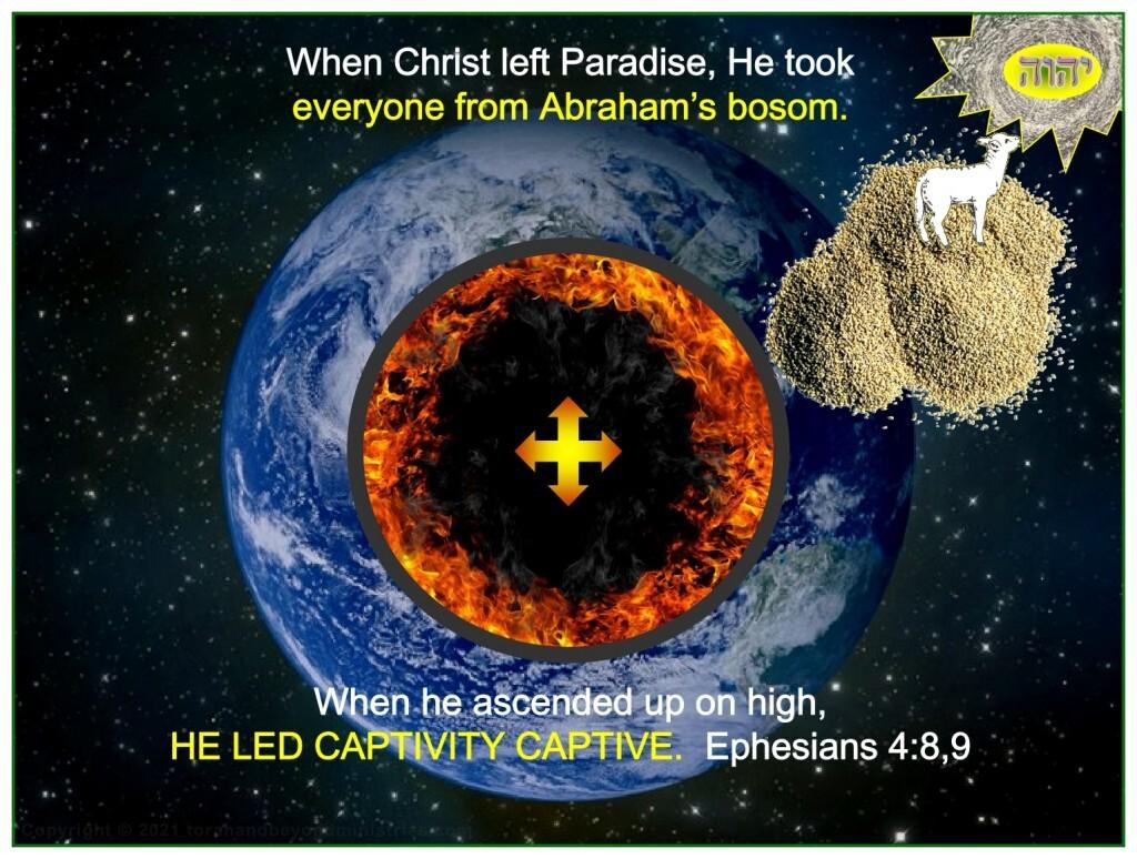 When he ascended up on high, HE LED CAPTIVITY CAPTIVE.  Ephesians 4:8,9