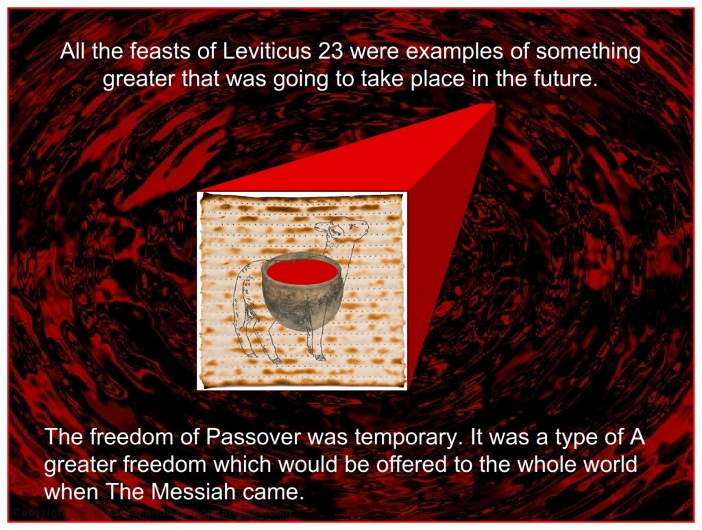 All the feasts of Leviticus 23 were examples of something greater that was going to take place in the future.