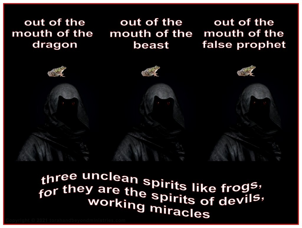 Tribulation Judgment number 6: spirits of devils, working miracles, which go forth unto the kings of the earth and of the whole world