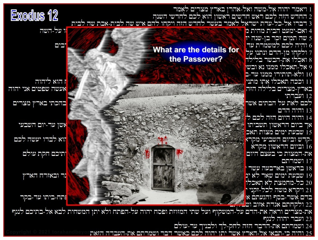 The details of Passover and communion are seen in Exodus 12