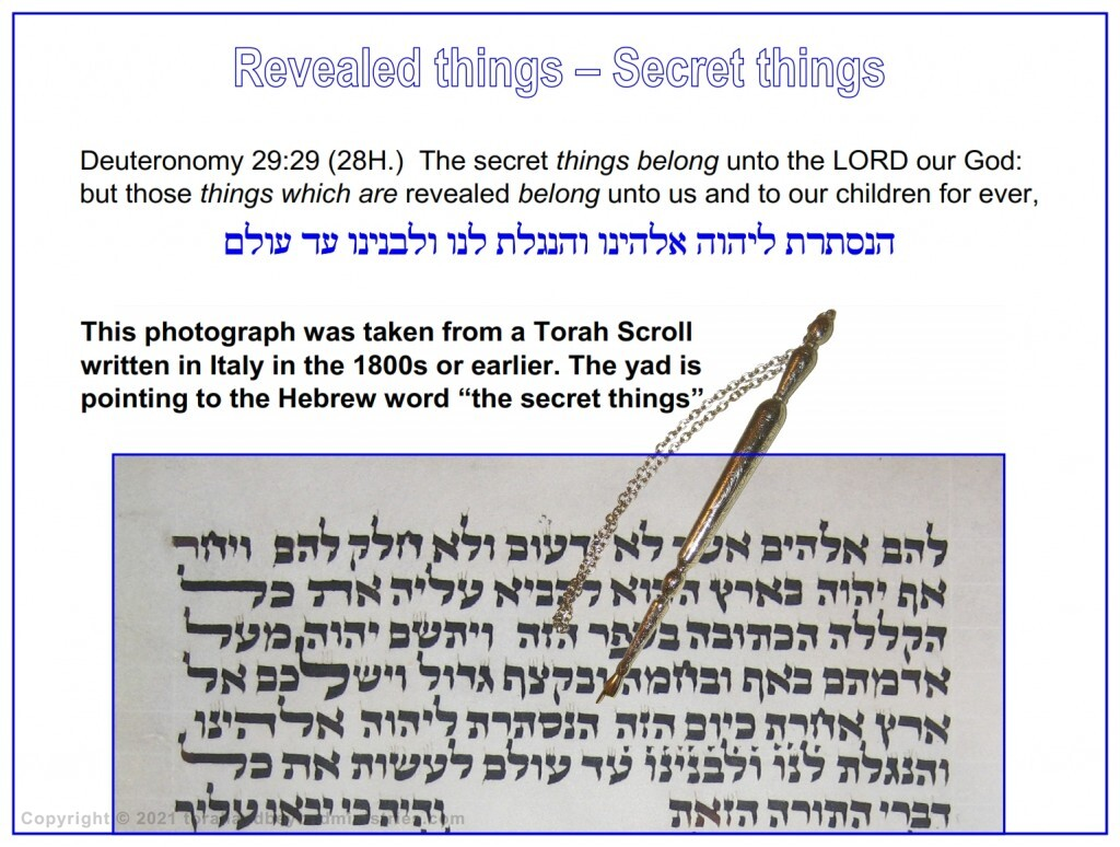 The secret things belong unto the LORD our God: but those things which are revealed belong unto us and to our children for ever