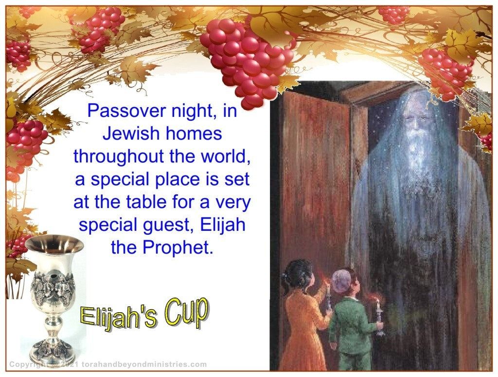 Many passover haggadahs tell of the practice of opening the door to let Elijah enter the home for the Passover meal.