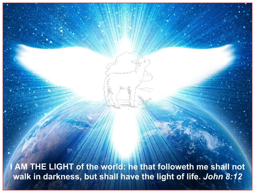 """Jesus was teaching on the Mount of Olives and said """"I am the light of the world: he that followeth me shall not walk in darkness, but have the light of life."""""""