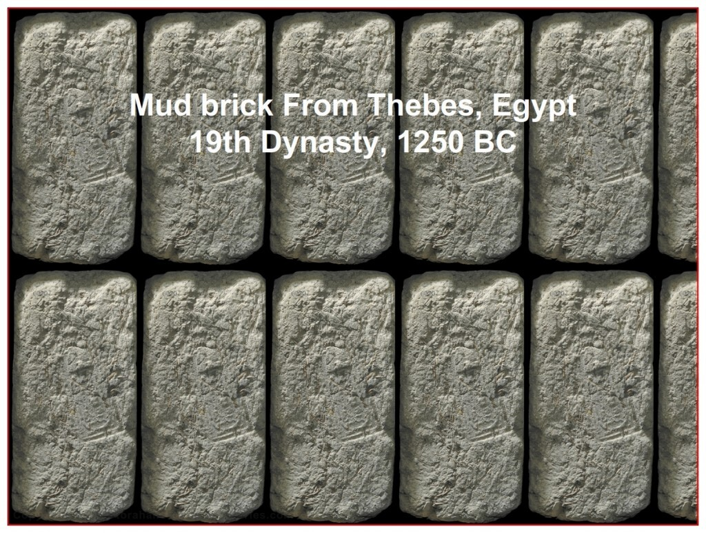 authentic mud bricks from the 19th dynasty in Egypt