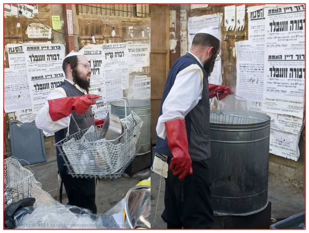 In Isreal you can always find services where large amounts of cooking utensils are cleaned for Passover.
