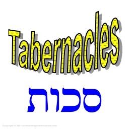 Tabernacles and Sukkot written in Hebrew Feast of Tabernacles - Sukkot