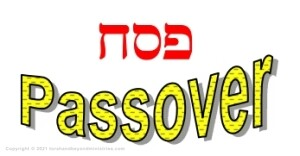 Feast of Passover written in Hebrew and English