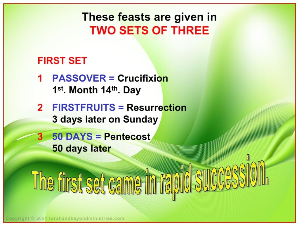 The first three Feasts of the Lord come in rapid succession in the Hebrew Scriptures and in their fulfillment in the New Covenant.