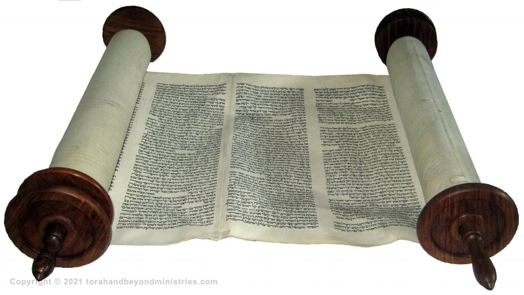Complete Hebrew Torah Scroll written in Lithuania around 1750