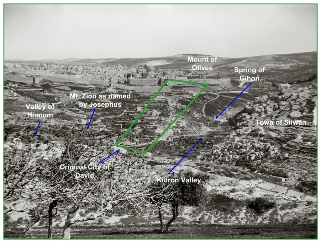 Photo 1890 The city of David from the South