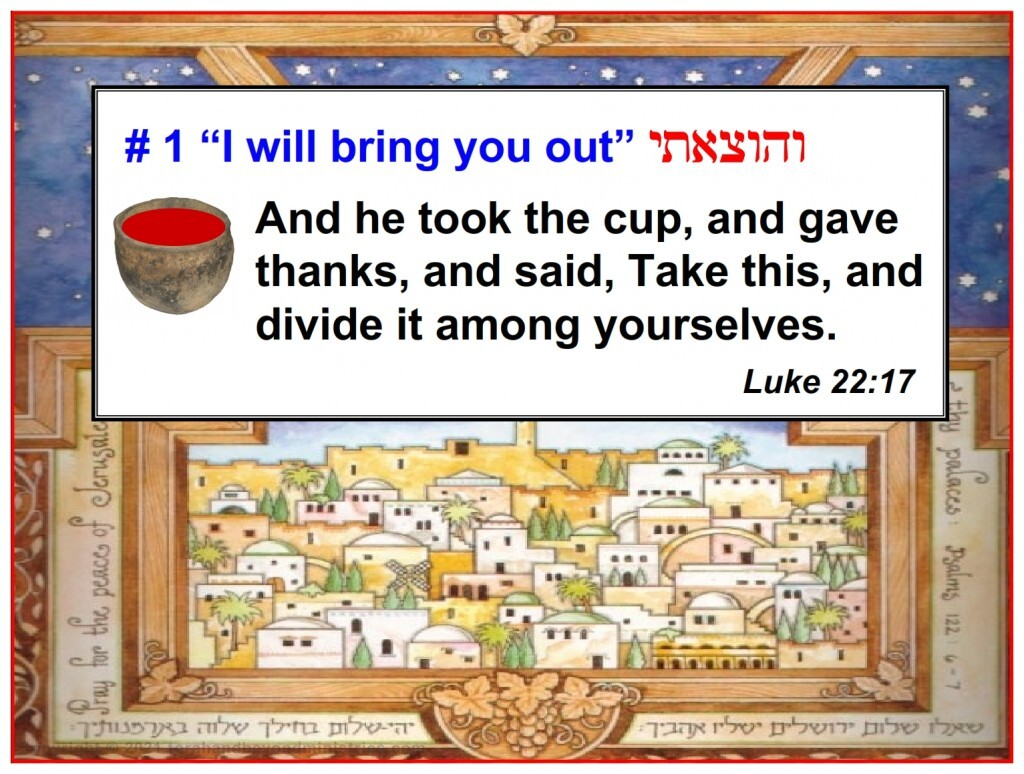 First cup of Fruit of the vine at Passover separated the people