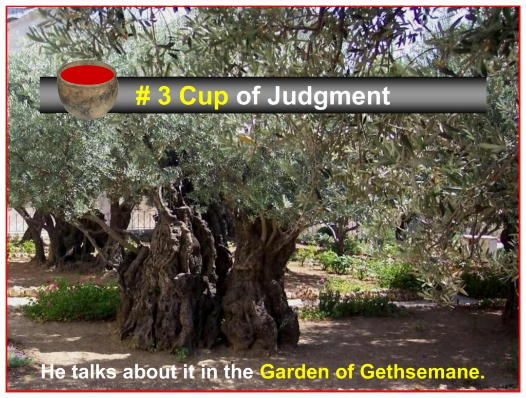 Jesus mentioned the third cup of Passover in the Garden of Gethsemane.
