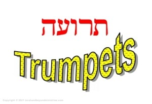 Feast of Trumpets written in Hebrew and English