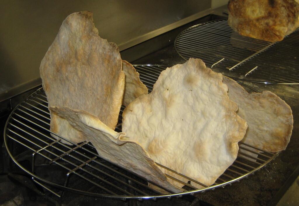 Home made Matzo - unleavened bread always tastes better