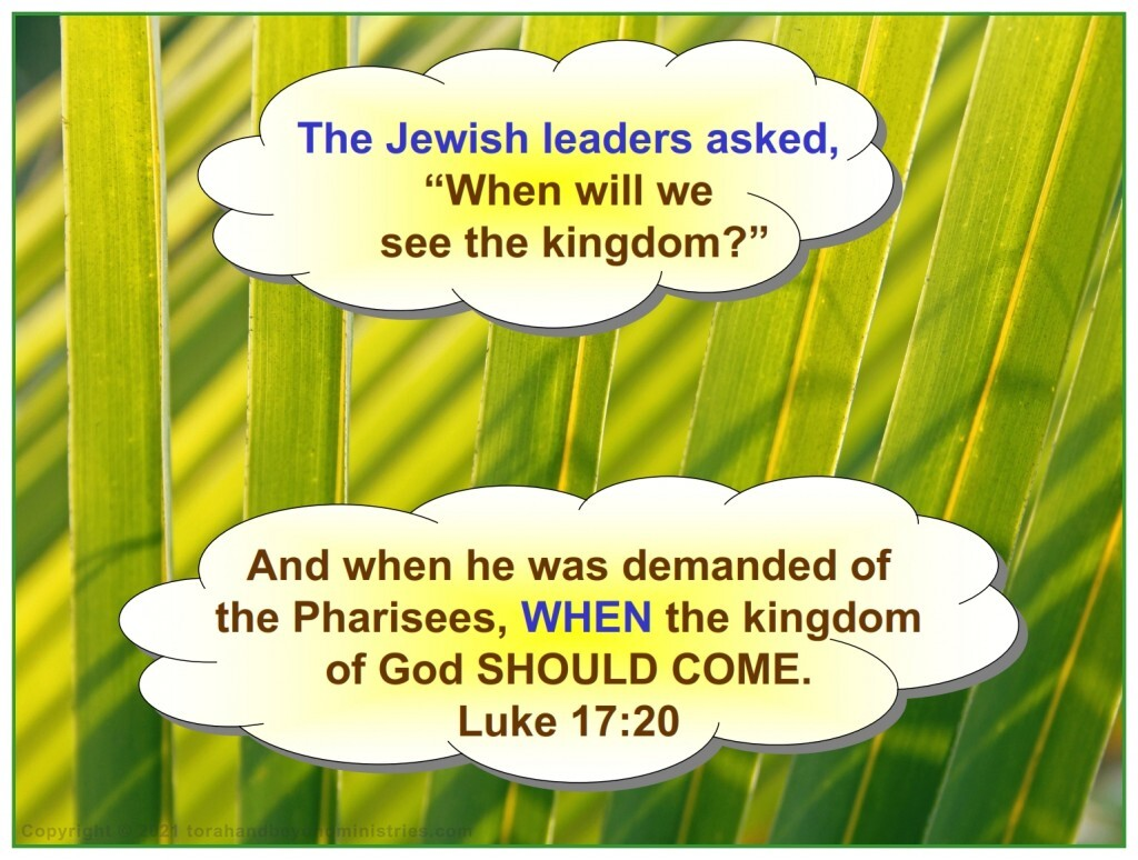 The Rulers of Israel did not understand No one understood how the fulfillment of the Feast of Tabernacles would happen