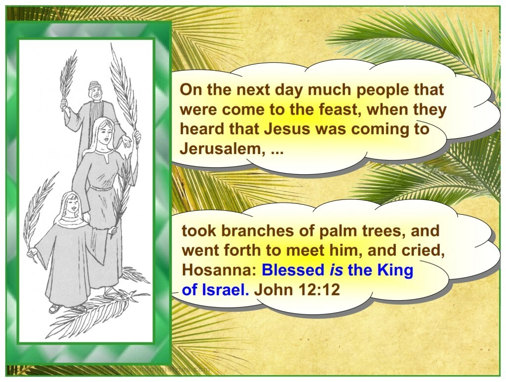 Palm Sunday the people wanted the Kingdom to start