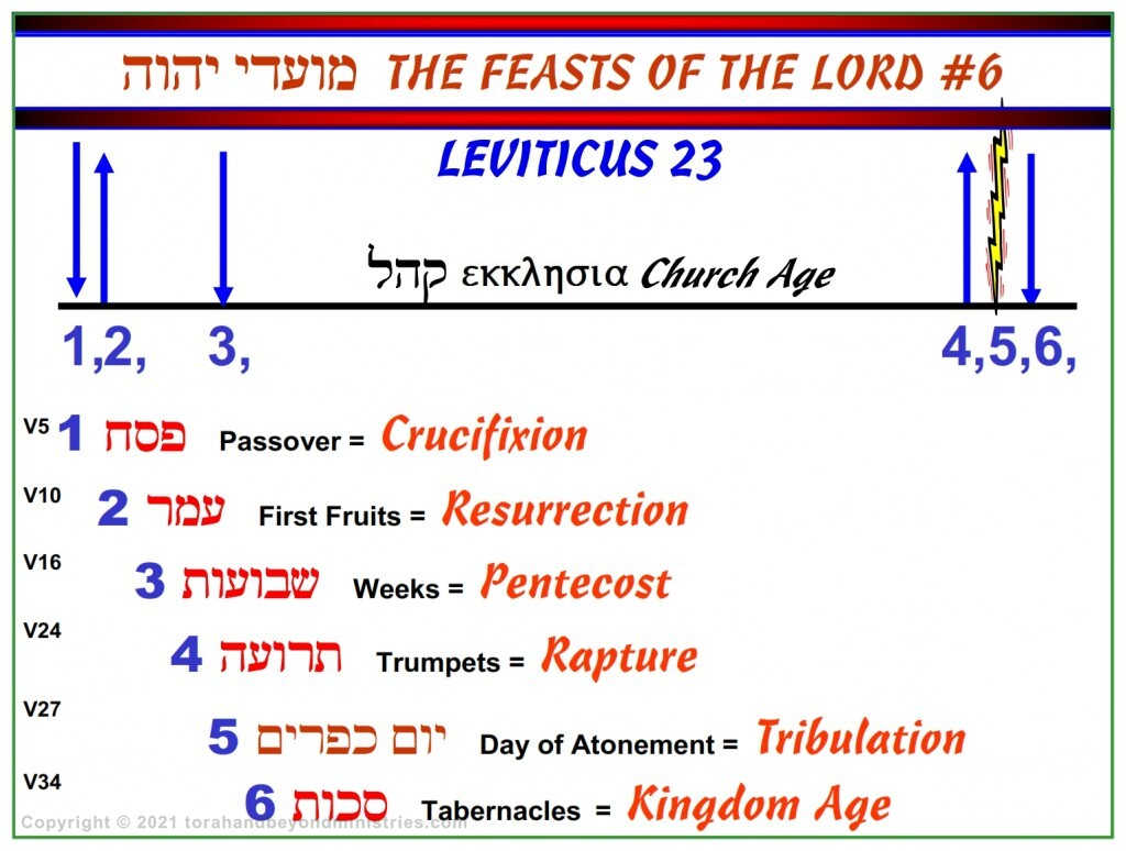 Chronological chart of the Feasts of the Lord Leviticus 23