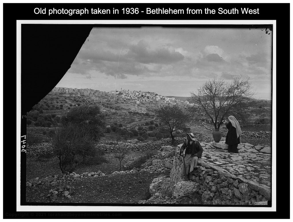 photograph shows the view of Boaz threshing floor at Bethlehem