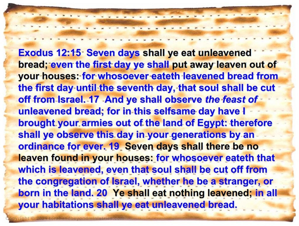 Instructions for removing Chametz, leaven Feast of Passover
