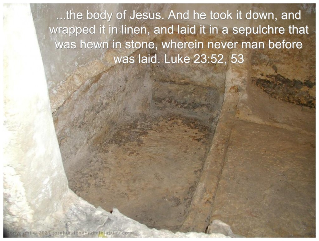 The stone tomb where the body of Christ was laid is just outside the walls of the old city of Jerusalem.