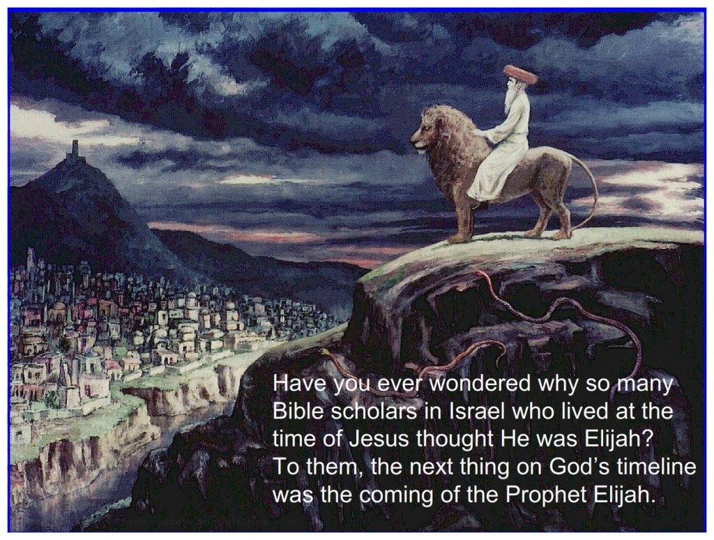 """During the ministry of Jesus many times people questioned if He was Elijah, or """"that Prophet""""."""