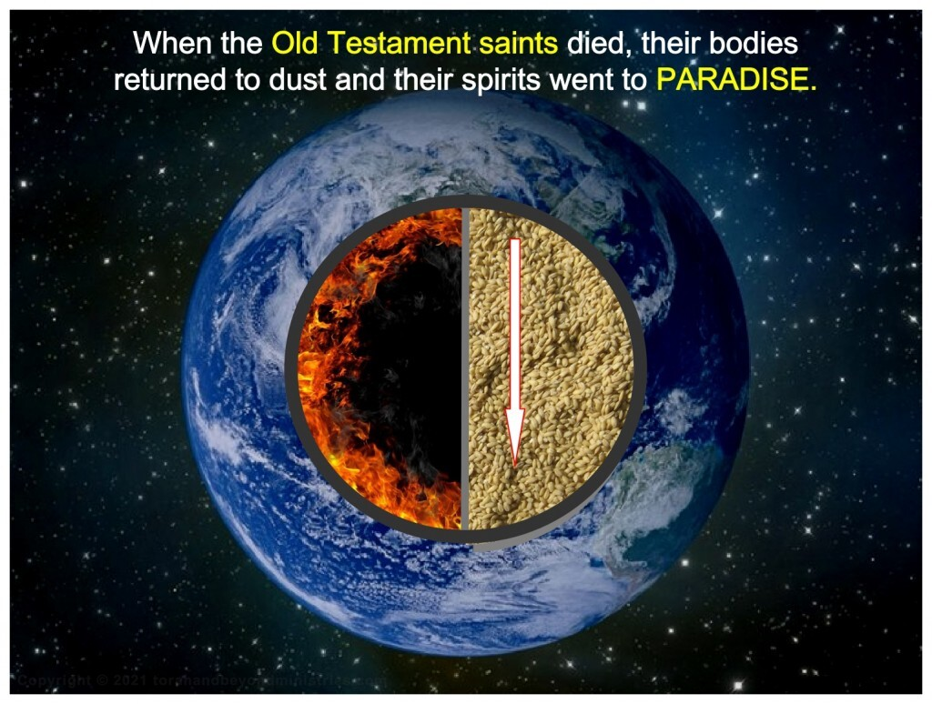 When Old Testament saints died their spirits went to Paradise