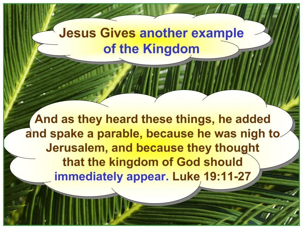 Jesus gives another example of the Feast of Tabernacles