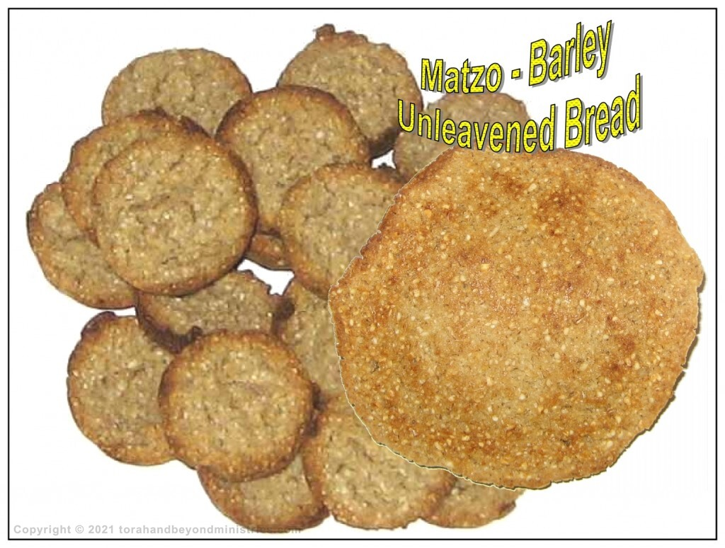 Unleavened bread made from barley