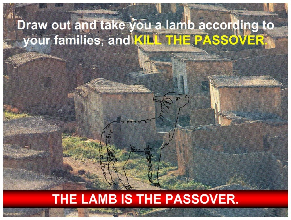 It is impossible to have Passover without a lamb because the lamb is the Passover