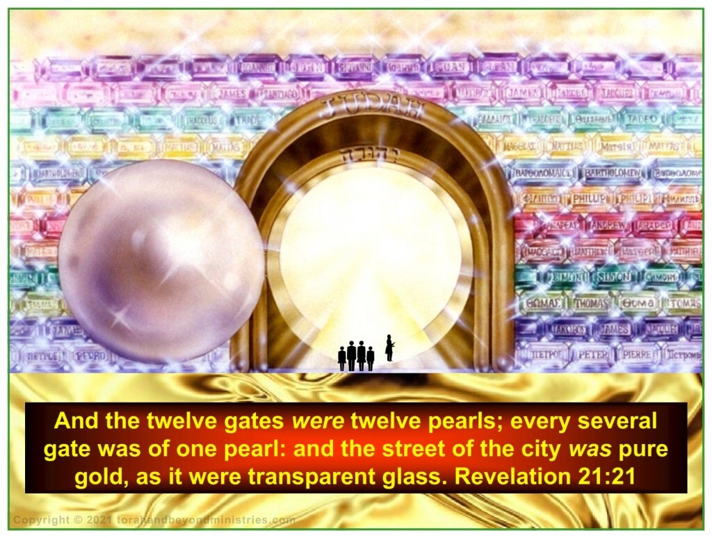 Gates of pearl in the New Jerusalem represents the suffering of His Saints
