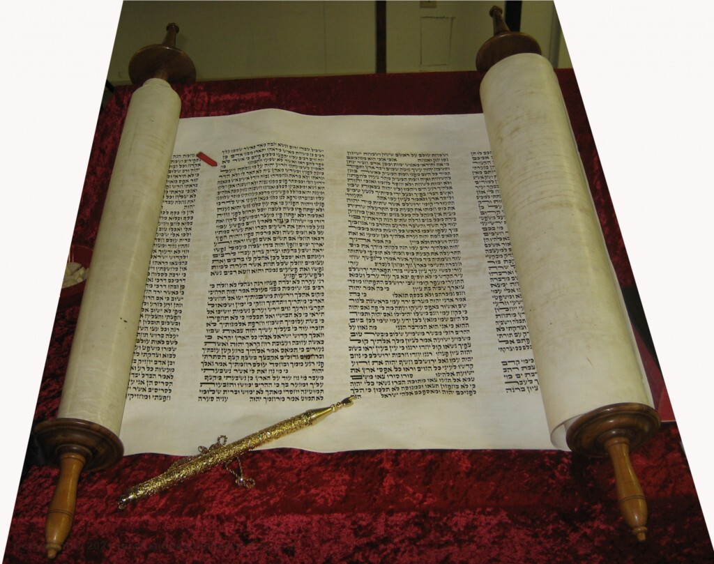 Isaiah 53 shown on a Hebrew Scroll of Isaiah