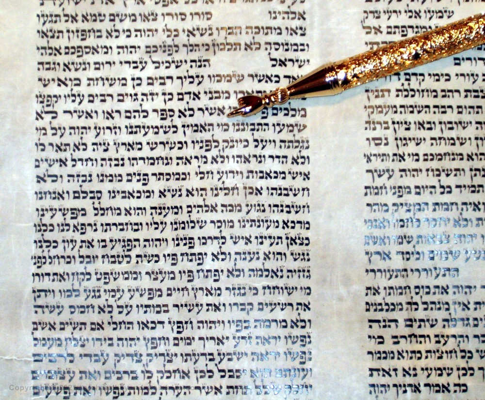 """Isaiah 53 shown on a Hebrew Scroll of Isaiah - """"Who hath believed?"""""""